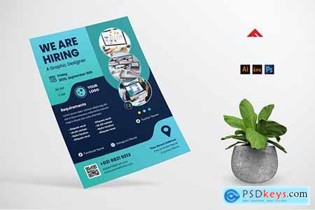 Graphic Design Job Hiring Poster Flyer