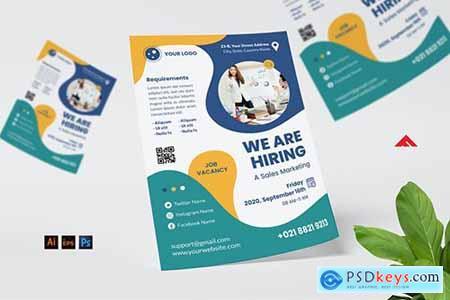 Sales Marketing Job Hiring Flyer