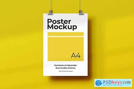 Hanging Paper Poster Mockup
