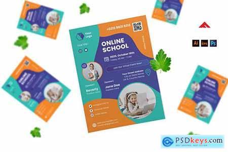 Online School Event Flyer