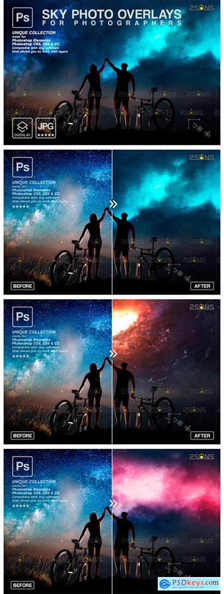 Night Sky Backdrop, Photoshop Overlay 9414395