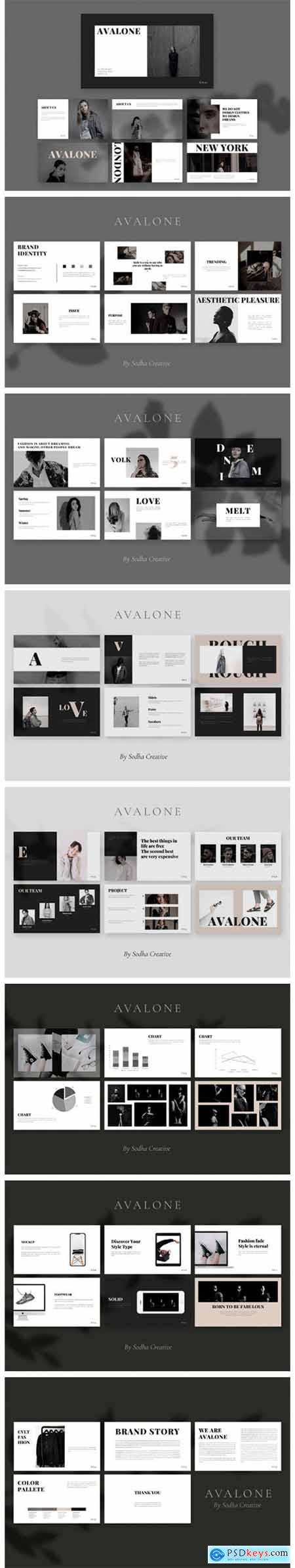 AVALONE Powerpoint Template 9723115