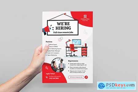 Company Job Hiring Flyer
