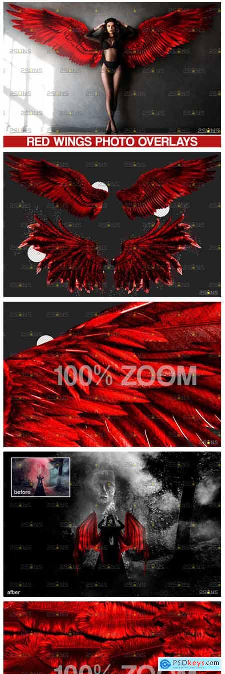 Red Angel Wings Overlay 8560186