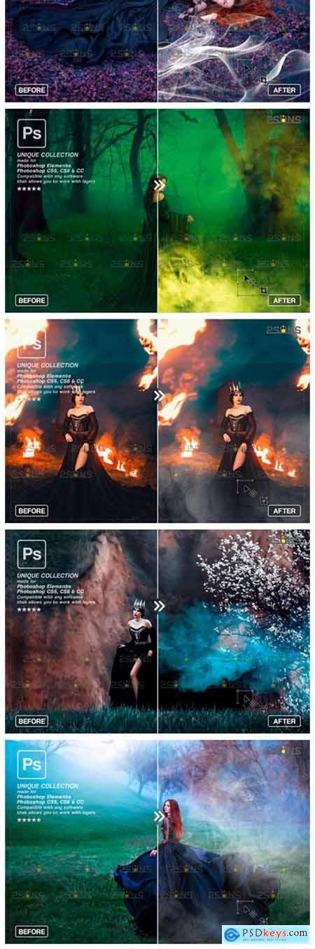Photoshop Overlay- Fog Overlay, Smoke 8561288