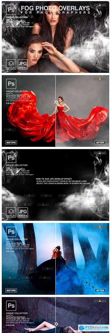 Photoshop Overlay- Fog Overlay, Smoke 8561288