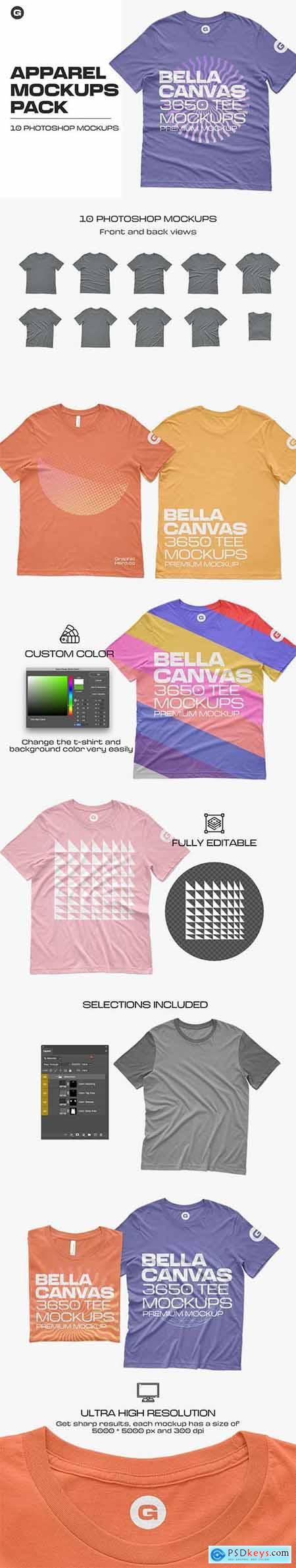 Bella 3650 Short Sleeve Tee Mockups 5959462