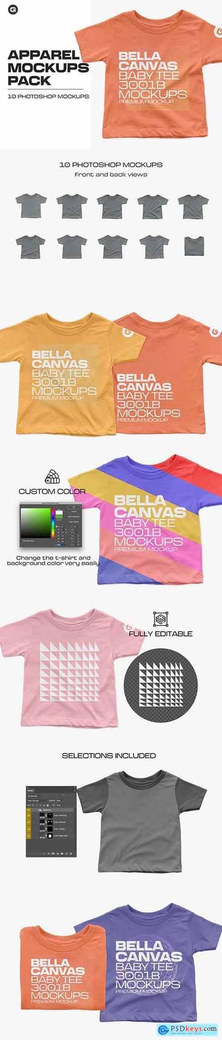 Bella Canvas Baby Tee 3001B Mockups 5961891