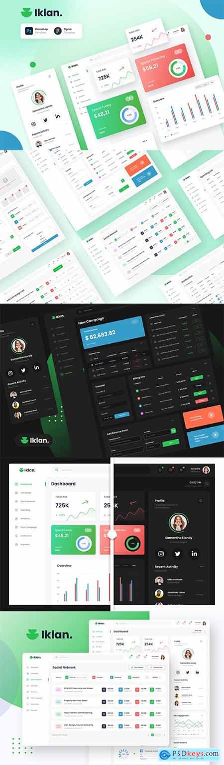 Iklan - Ads Campaign Admin Dashboard Template