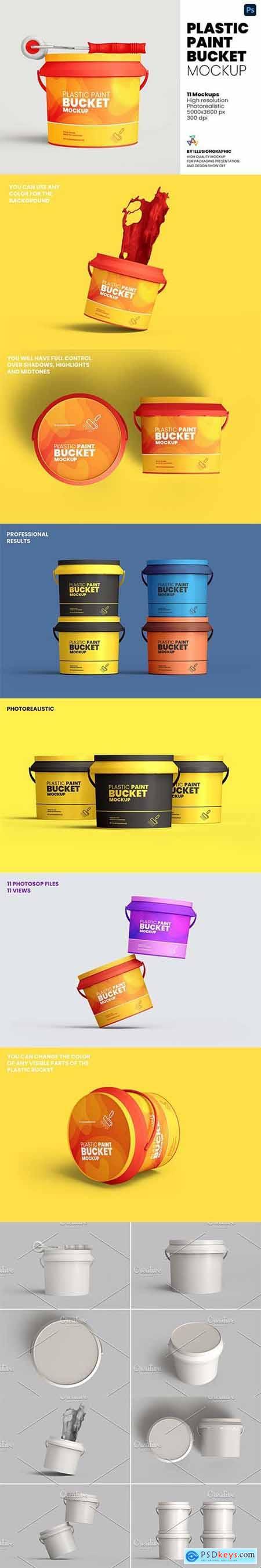 Plastic Paint Bucket Mockup 5976024