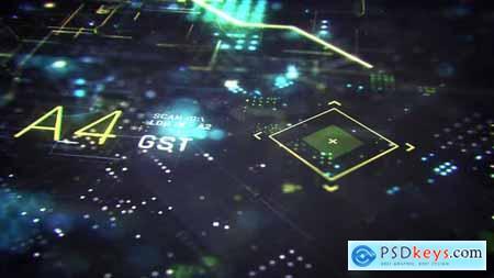 Sci-fi Futuristic HUD Logo Reveal 30204250