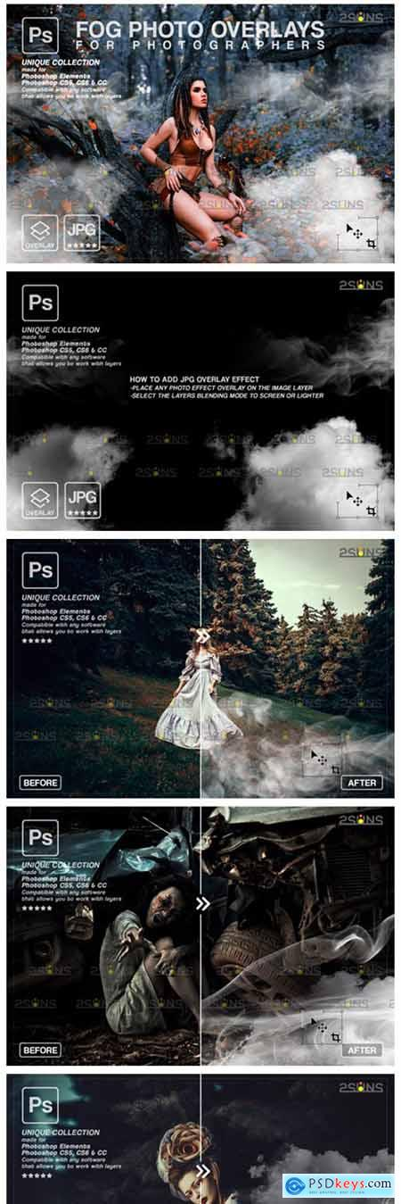 Photoshop Overlay- Fog Overlay, Smoke 8561231