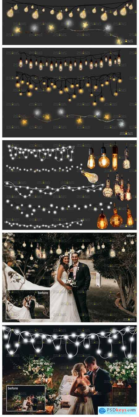 String Fairy Lights Overlay & Wedding 8555009