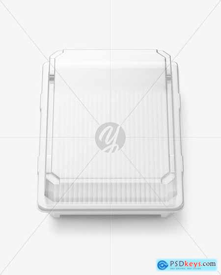 Clear Empty Transparent Tray Container Mockup 78964