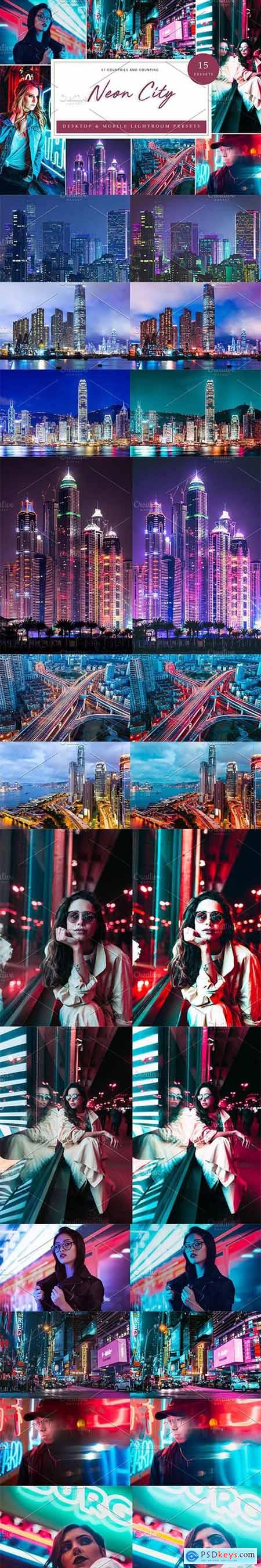 15 x Lightroom Presets, Neon City 5962657