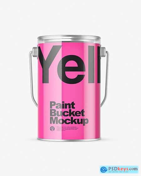 Clear Paint Bucket Mockup 79020