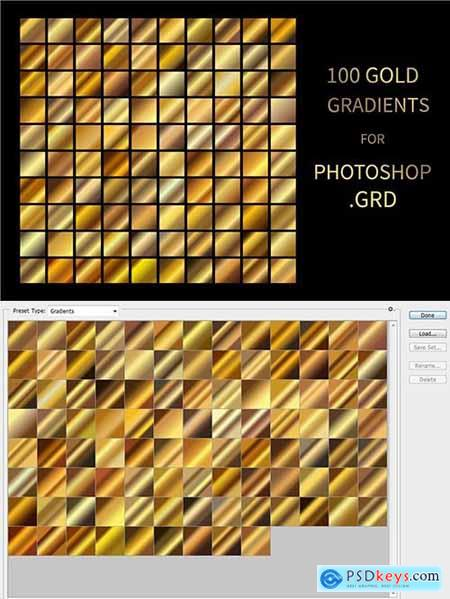 Gold Gradients for Photoshop GRD 5915141
