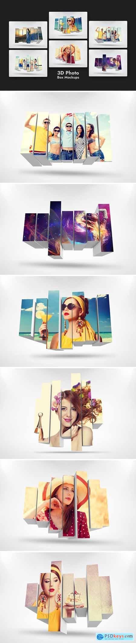 3D Photo Box Mockups Template V-8