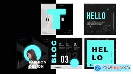 Typography black white post instagram 31370702