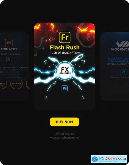Flash rush for photoshop flash fx animation pack 30928459