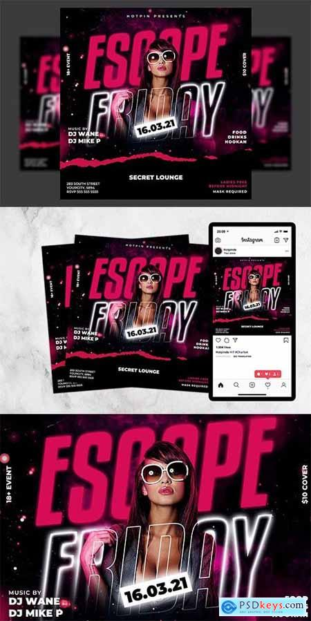 Night Club Flyer Template 5989321