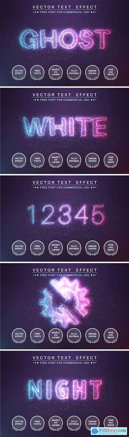 Glow ghost - editable text effect, font style