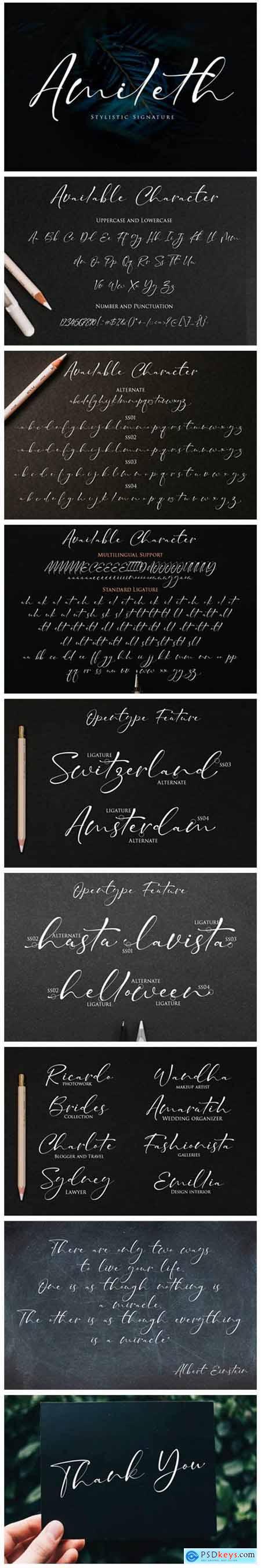 Amileth Font