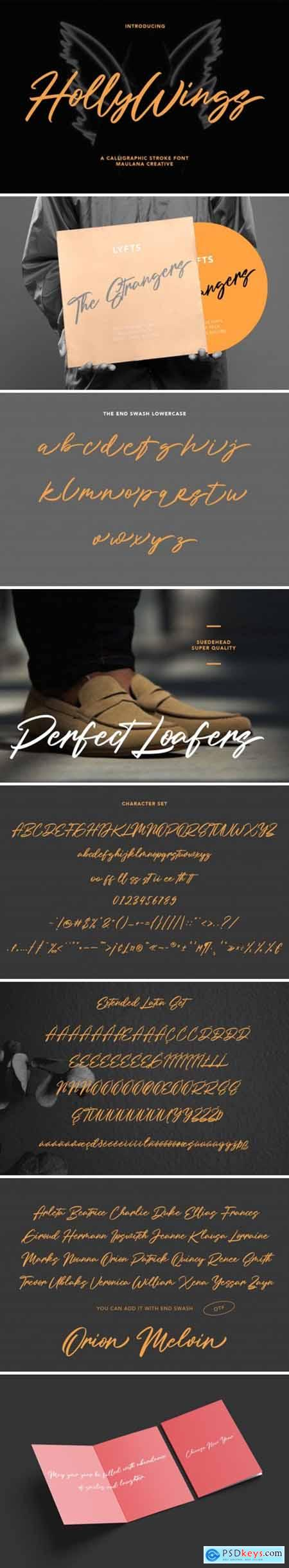 Holly Wings Font