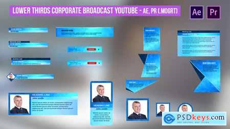 Lower Thirds Corporate Broadcast YouTube - AE, PR 31482376