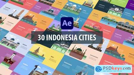Indonesia Cities Animation - After Effects 31522657