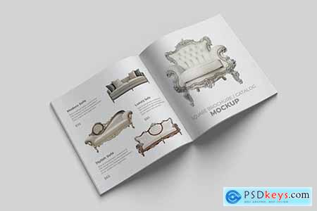 Square Brochure and Catalog Mockup FHZE552