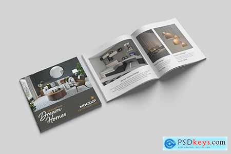 Square Brochure and Catalog Mockup 4V3YUL7