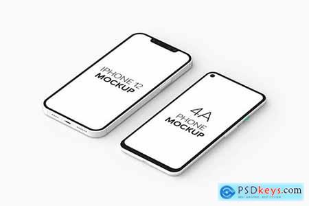 4A Phone & iPhone 12 Mockup