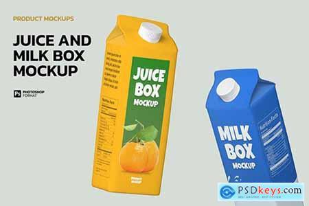 Juice and Milk Box - Mockup