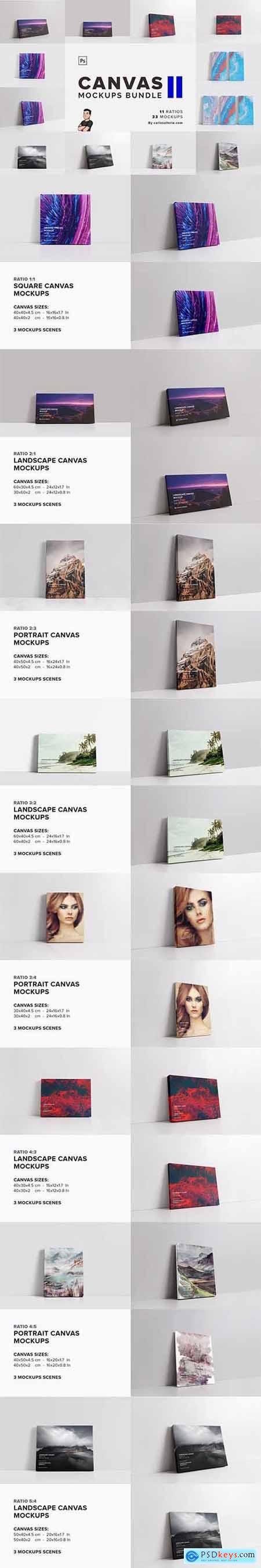 Canvas Mockups Bundle 2 5811614