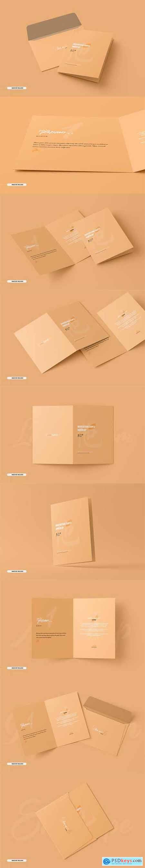 A5 a6 folded brochure card mockup