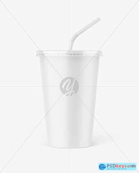 Paper Soda Cup Mockup 77034