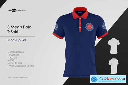 Mens Polo T-Shirts MockUp Set 5848252