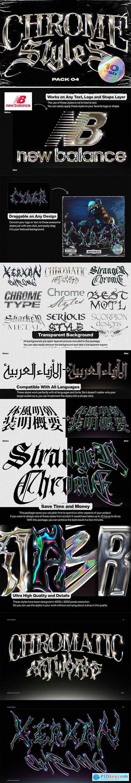 Creativemarket Chrome Text Styles Vol.4 6040750