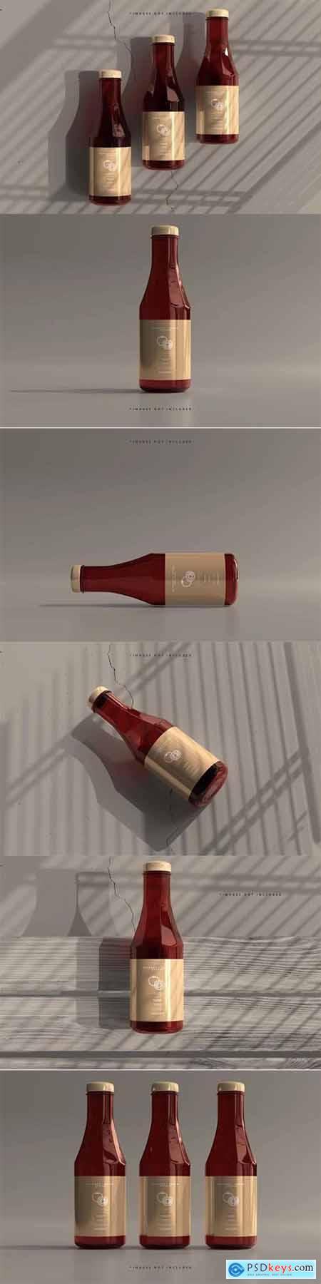 Ketchup or sauce bottles mockup 2