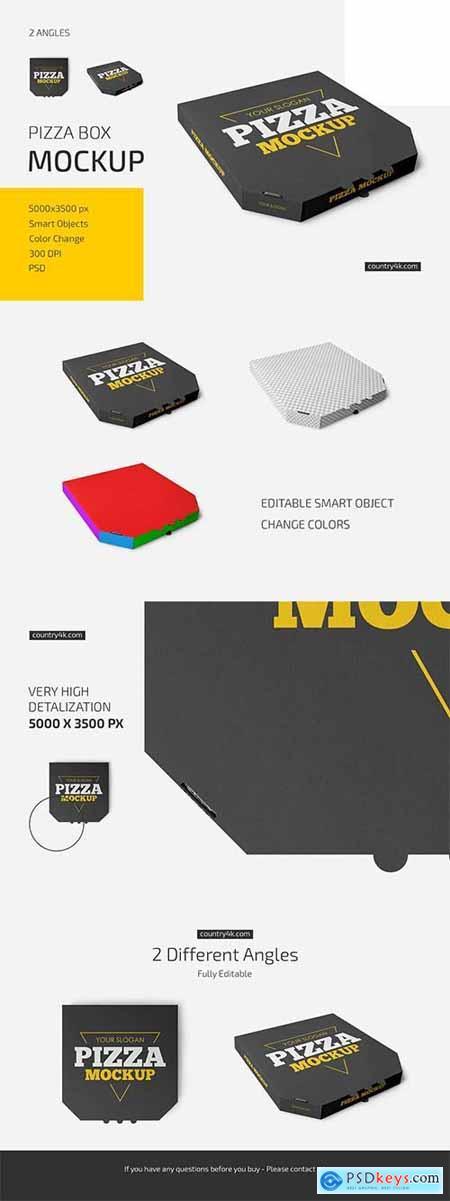 Pizza Box Mockup Set 6019339
