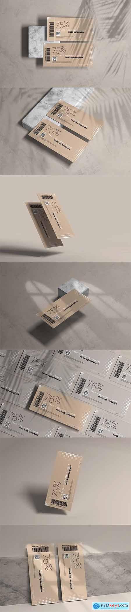 Voucher or Ticket Mockup 5606918