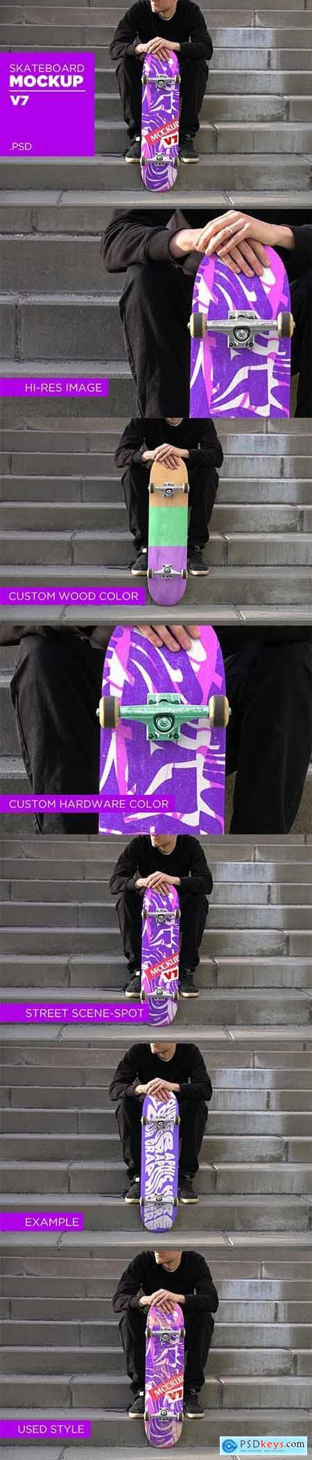 Skateboard Mockup V7 - PSD 5935931