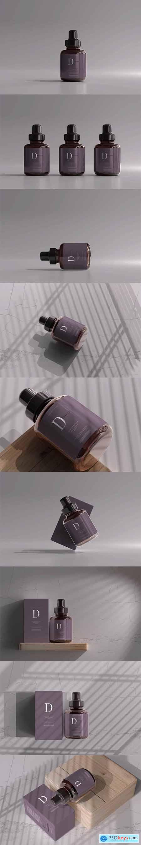Amber Glass Dropper Bottle with Box 6055502
