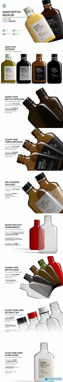 Sauce Bottle Mockup 5676748