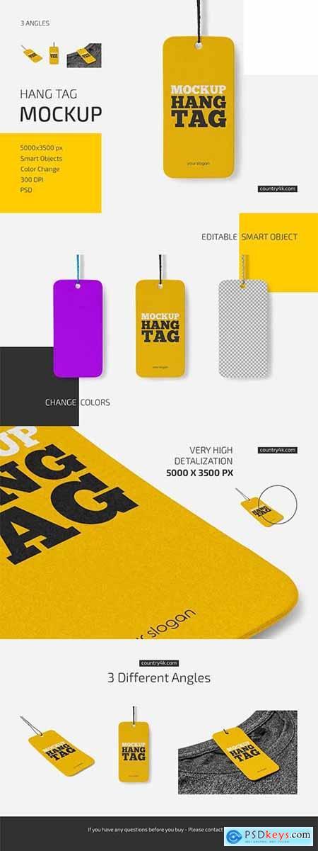 Hang Tag Mockup Set 6033710