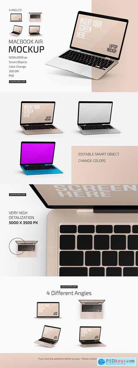 Macbook Air Mockup Set 6041691