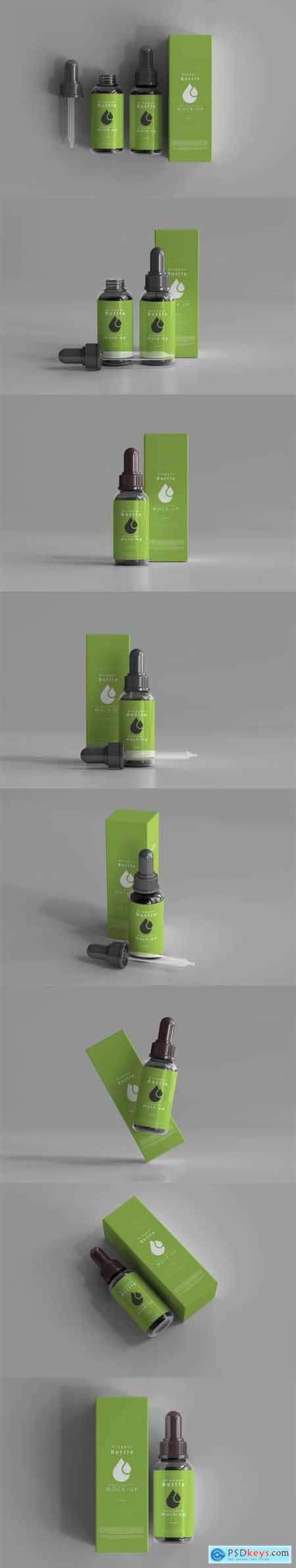 Dropper bottle mockup box