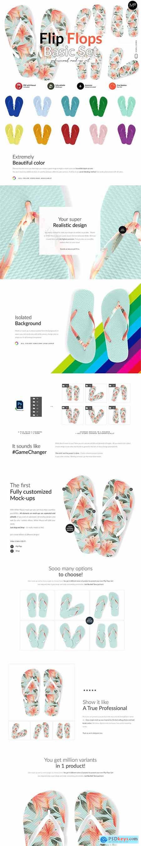 Flip Flops Basic Set Mock-ups 6018077