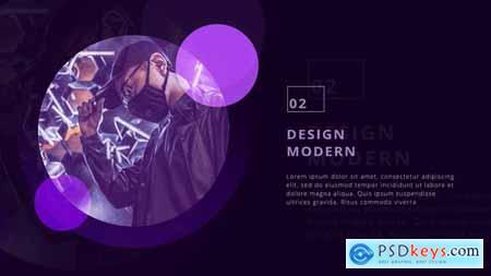 Stylish Circle Presentation 28854767